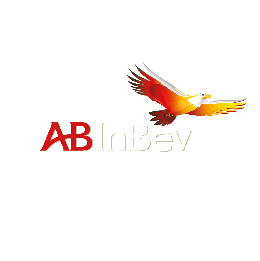 An image of the ABinBev Logo; it is the coloured version of the logo