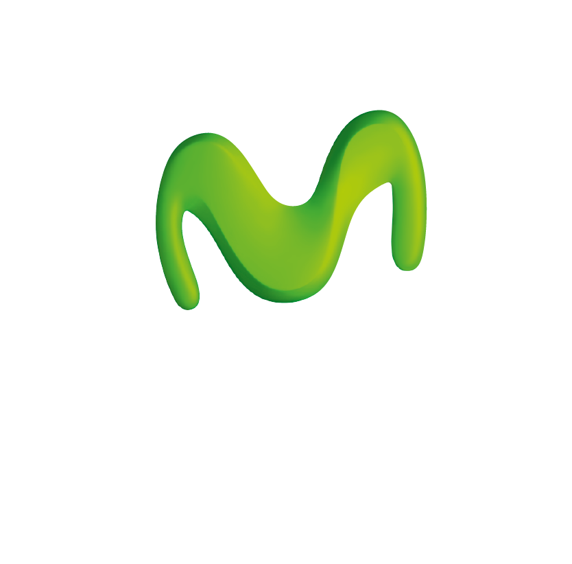 an image of the Movistar logo with white text on a transparent background