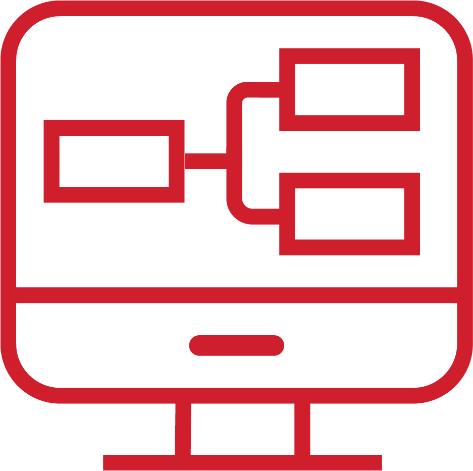 an icon of a computer; reflects UX/UI Design